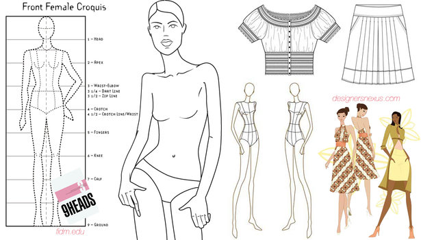 Essentials Fashion Sketchbook 366 Figure Templates to