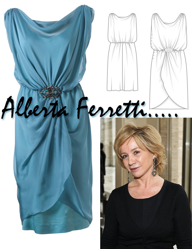 Designer Pattern: Alberta Ferretti Dress – Sewing Blog ...