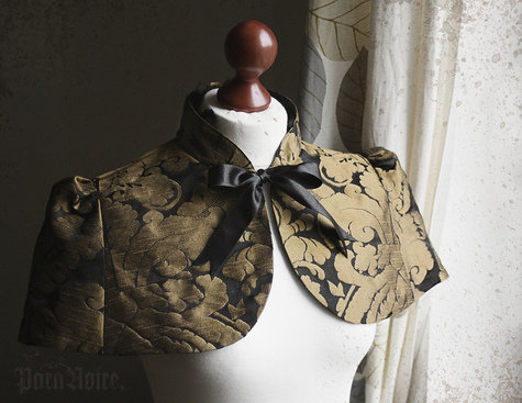 Anouschka_capelet_in_black_gold_jacquard_fullscreen