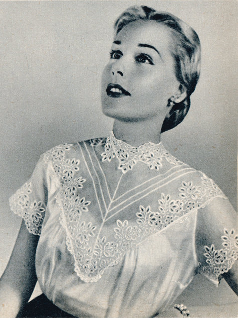 Vintage Lace Blouse 03/2013 #137 – Sewing Patterns | BurdaStyle.com