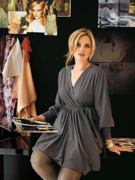 Knitting Patterns Plus Size : Wrap tunic dress plus size  sewing