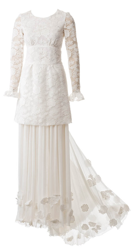 Mini lace wedding dress with long petticoat 03 2015 117 for Lace wedding dress patterns to sew