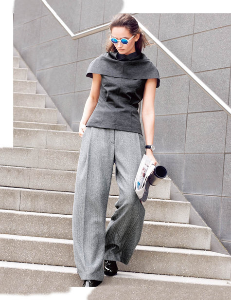 Grey Wide Leg Trousers 10/2015 #105C – Sewing Patterns ...