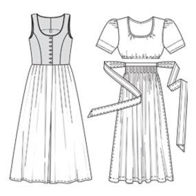 #123 Austrian Dirndl - Folkwear Pattern #123
