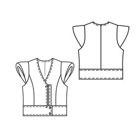 how to make a cap sleeve pattern