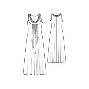 Jeweled Neckline Maxi Dress 06/2010 101 – Sewing Patterns ...