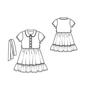 Girl's Dress with Hem Frill 6/2010 #145