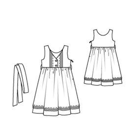 Girl's Dress with Empire Waist 6/2010 #150