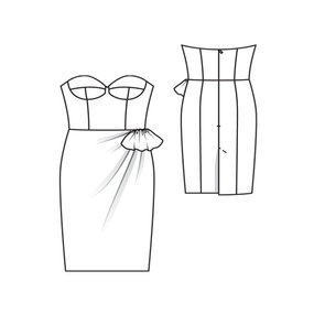 Bustier Dress with Draped Detail 5/2011 122A – Sewing Patterns ...