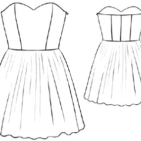 Lace Strapless Dress – Sewing Patterns | BurdaStyle.com