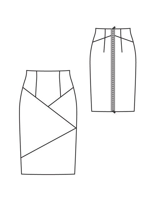 02/2012 Stretch Pencil Skirt #121B