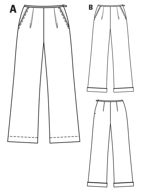 Wide Leg Trousers 08/2012 #124 – Sewing Patterns | BurdaStyle.com