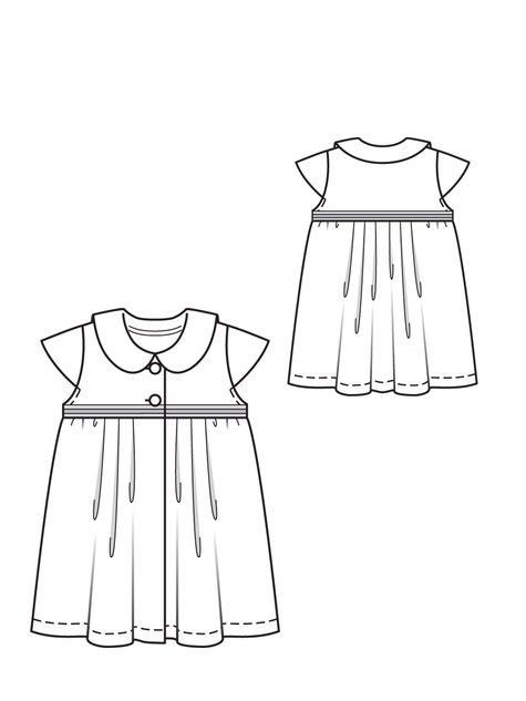 Pleated Baby Dress 07/2012 #145