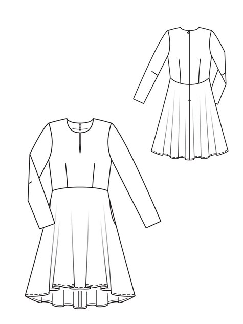 Line Drawing Dress : A line dress sewing patterns burdastyle