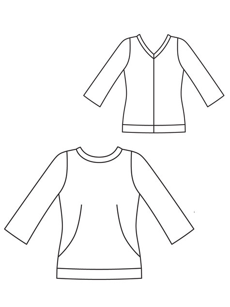 3/4 Sleeve Top 09/2012 #106C