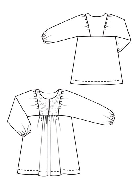 free peasant dress pdf pattern