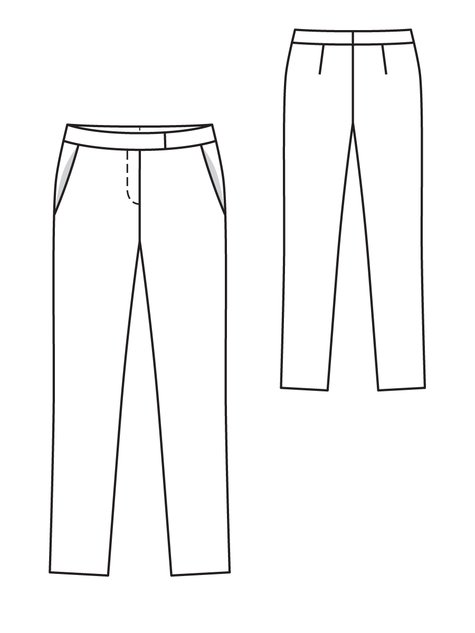 Drawing Smooth Lines Zipcode : Ankle trousers c sewing patterns