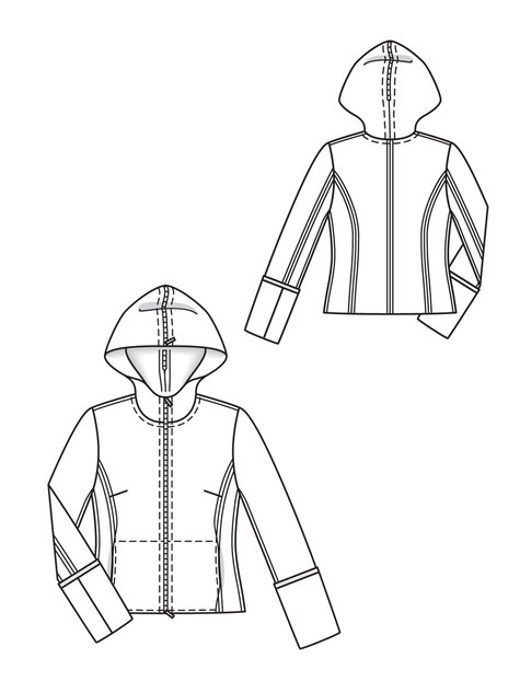 Hooded Sport Jacket 12/2012 139 – Sewing Patterns | BurdaStyle.com