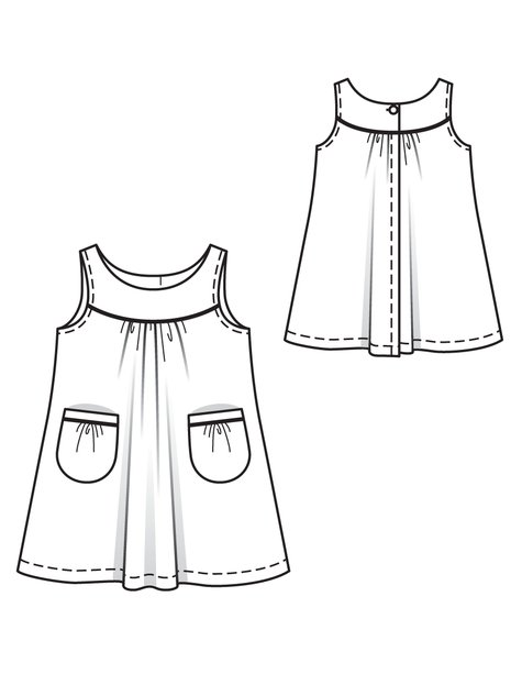 Girl's Yoke Dress 05/2012 #148