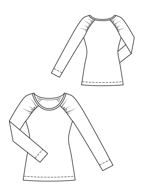 Tops Technical Drawing This Top on Patternreview