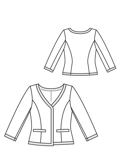Short Jacket 02/2013 106 – Sewing Patterns | BurdaStyle.com