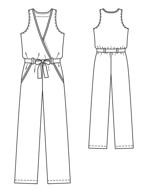 Sleeveless Jumpsuit 02/2013 #124 – Sewing Patterns ...