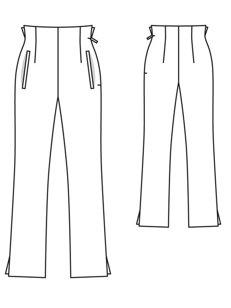 Elegant StyleArc Claudia Stretch Woven Pant Sewing Pattern
