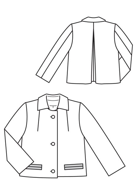 Short Jacket 08/2011 #128 – Sewing Patterns | BurdaStyle.com