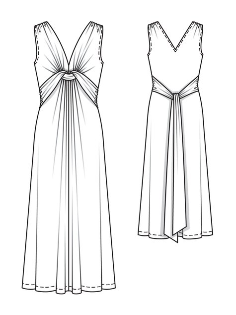 Twisted maxi dress 02 2013 115 sewing patterns for Wedding dress patterns free download