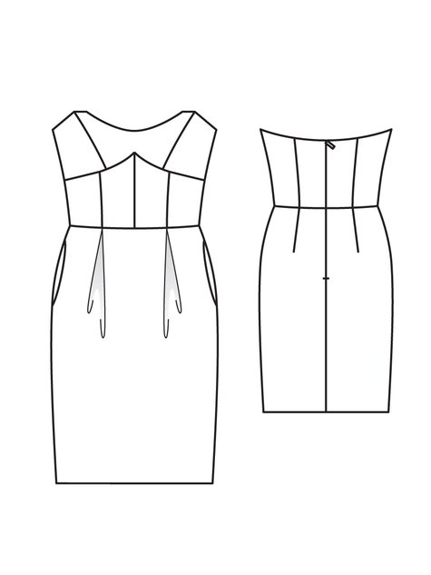 Strapless Corset Dress 03/2010 #107 – Sewing Patterns | BurdaStyle.com