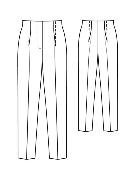 Wide Leg Pants 12 2010 108a Sewing Patterns