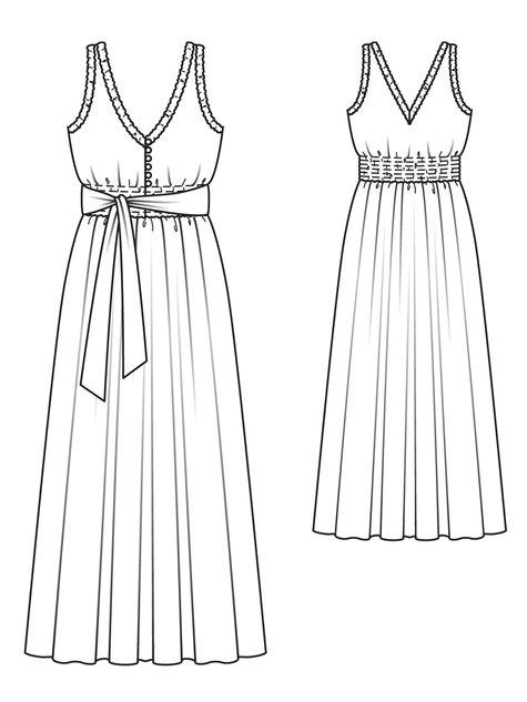 Smocked Maxi-Dress 04/2013 #125 – Sewing Patterns ...