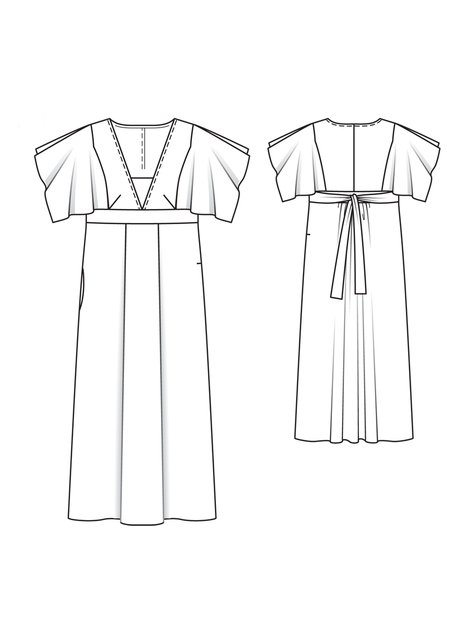 Maxi-Dress (Plus Size) 04/2013 #133B – Sewing Patterns ...