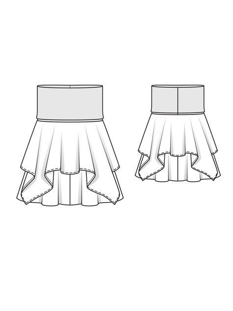 Handkerchief Skirt (Plus Size) 05/2013 #141