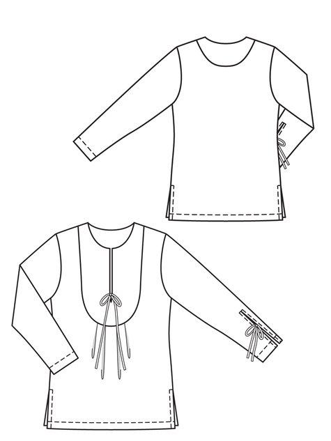 Yoked Tunic (Plus Size) 06/2013 #142