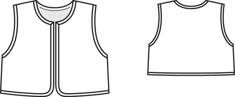 It is a graphic of Clean Printable Vest Pattern