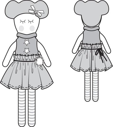 Rag Doll Dress Patterns Free: Dressing a darice rag doll free ...