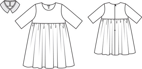 Peter pan collar dress 11 2013 138 sewing patterns for Peter pan shirt pattern
