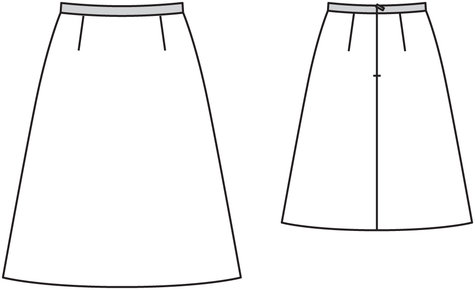 A Line Skirt 12/2013 #126 – Sewing Patterns | BurdaStyle.com