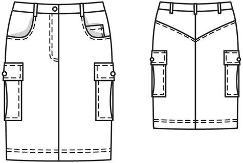 Cargo Skirt Pattern 120