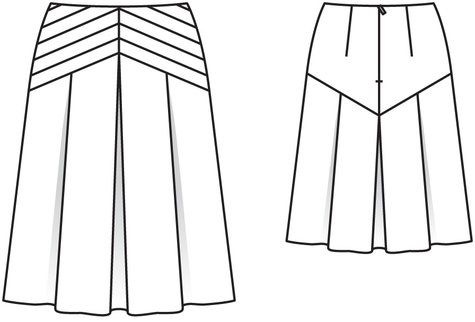 a line skirt with pleated yoke 02 2014 106 sewing