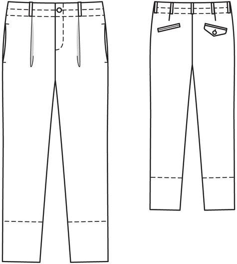 Men's Linen Pants 04/2014 #129 – Sewing Patterns | BurdaStyle.com