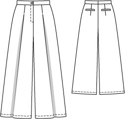 Gaucho Pants 05/2014 #121 – Sewing Patterns | BurdaStyle.com