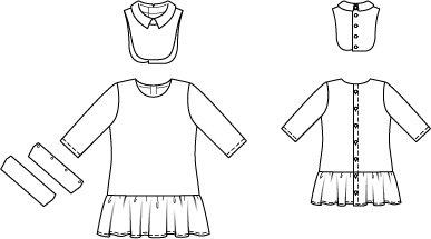 Girl's Drop Waist Dress 05/2014 #143