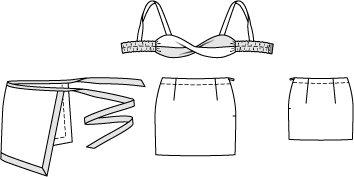 Bandeau Top, Sarong, and Mini Skirt 05/2014 #125