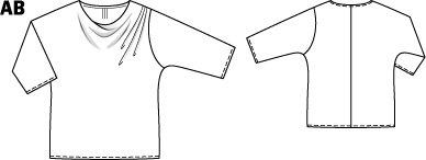 Cowl Neck Blouse (Plus Size) 08/2014 #137A