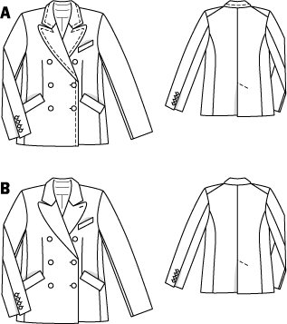 Double Breasted Peacoat 10/2010 #108B – Sewing Patterns ...