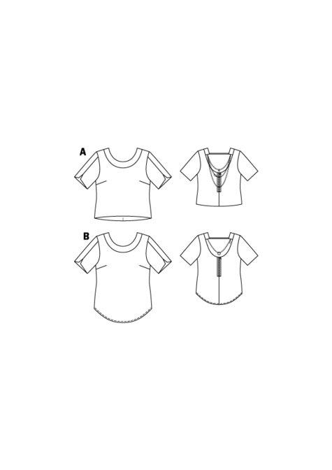 Open Back Silk Blouse (Plus Size) 01/2016 #131B