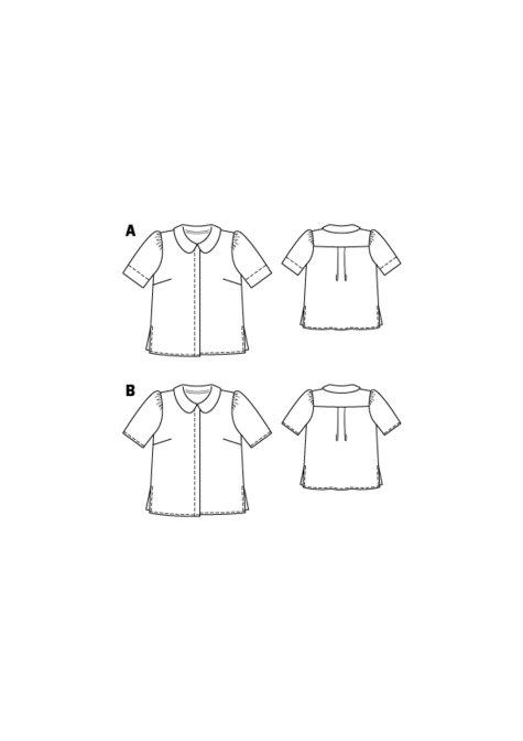 Peter pan collar blouse 06 2016 118a sewing patterns for Peter pan shirt pattern