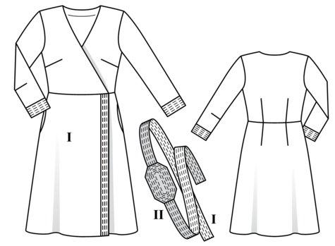 Belted Wrap Dress 02/2018 #103